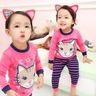 "2Pcs NWT Vaenait Baby Toddler Kids Girl Clothes Sleepwear Pajama Set ""Smile Cat"""