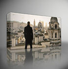 SKYFALL BOND 007 OVERLOOKING LONDON - PREMIUM LARGE GICLEE CANVAS ART