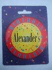 Personalised Birthday Button Badge - Jumbo 75mm - Names A to B