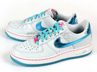 Nike Air Force 1 (GS) AF1 Pur​e Platinum/Gamma Blue-White-P​ink Flash 314219-008