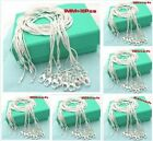 Discount product Wholesale 10pcs 1mm Sterling 925Silver Snake chain Necklace+box