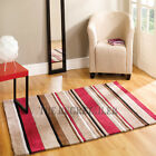 Inspire Rugs - Broad Stripe Modern Choc & Red