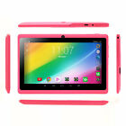 """iRULU 7"""" Pink Tablet PC Google Play Android 6.0 Quad Core 8GB 2.0MP Camera WIFI"""