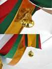 3M Xmas/Wedding/Party  Waves Flag Banner Indoor Ceiling Decor + 2 Jingle Bells