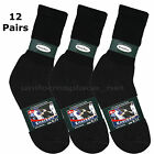 12 pairs Mens Womens Sport CREW SOCKS Colors ATHLETIC Cotton Sock 9-11 / 10-13