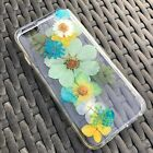 Handmade Dried Pressed Flower iPhone case for 6 6s plus 7 7plus clear cover BCG