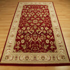 Wool Classic Rugs In Red - 636R A Traditional Wool Pile Wilton Rug Large Sizes