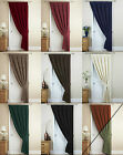THERMAL VELOUR VELVET PLAIN DYED PENCIL PLEAT DOOR CURTAIN IN MULTIPLE COLOURS