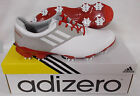 New Adidas Adizero Tour Q44505 Golf Shoes - White/Light Grey/University Red