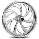 """RC Components Helix Chrome 18"""" x 3.5"""" Rear Wheel Harley-Davidson No ABS"""