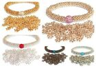 Stunning Assorted Snowflake Disco Bling Stretch Bracelet Making Kit - lady-muck1
