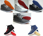 Mens Designer High/Lo Top Ankle Shoes Canvas Plimsoles Footwear Pumps Trainers