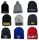 Men's BAD HAIR DAY BIEBER Beanies women's Winter Cotton knit cap wool Hats SJ2