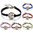 Retro Bronze Tree of Life Infinity Leather Handmade Friendship Bracelet 6 Colors
