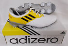 New Adidas Adizero Tour Q47086 Golf Shoes - White/Black/Vivid Yellow