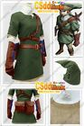 legend of zelda twilight princess link cosplay costume outfit green stock