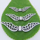 Tibetan Silver Hollow Fancy Angel Wing Charms Spacer Beads Pick 32mm,42mm,52mm
