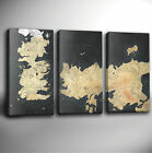 GAME OF THRONES MAP - MULTI PANEL GICLEE CANVAS ART *Choose your size