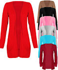 Women Plus Size Long Sleeve Boyfriend Cardigan with Pockets Sizes S/M TO XXL