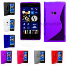 S Line Wave Gel Case Cover For Nokia Lumia 520 & Free Screen Protector