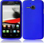 Rubber Silicone Skin Case for Alcatel One Touch Evolve 5020T + Screen Protector