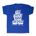EAT SLEEP RAVE REPEAT DANCE HOUSE MUSIC KIDS T SHIRT TEE ALL SIZES & COLOURS