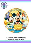 Mickey Mouse & Friends Edible Icing/ Rice paper Toppers for Cakes VARIOUS SIZE