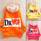 New Letters Print Pullover Casual Women Hoodies Outwear Sweats Drawstring Pocket