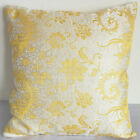 Cushion Cover Custom Made Chinese Brocade Case White w Peonix Tail cbscc-536