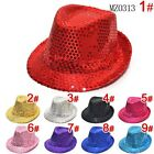 Boys & Girls Canvas Fedora Sequin Hat - Free Shipping