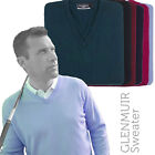 Glenmuir 1891 GM010 Lomond Lambswool V Neck Golf Sweater Jumper Pullover (6 Col)