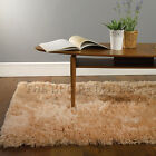 Lush Beige Rugs | A Shaggy Pile Rug With a Sumptuous Pile | 3 Rectangles 1 Round