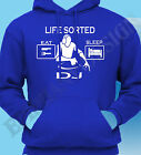 DJ Hoody Hoodie Mobile Life Sorted Eat Sleep Rave Disco Ideal Gift Party Music