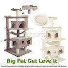 "Vidapets 71"" Almond Black Beige Cat Tree Condo Furniture Scratch Post Play House"