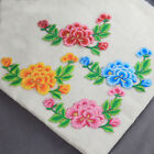 5pcs Embroidered Peony Flower Clothes Motif Patch iron on Appliques Not Sewing