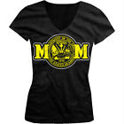 Army Mom - United States Of America Seal USA Troops Girls Junior V-Neck T-Shirt