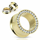 Tunnel Lusso Double Flared 4-25mm Zirconia Nuovo -- PIERCINGS Di COOLBODY