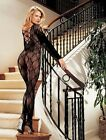 Long Sleeve Stretch Lace Body Stocking by Hot Hosiery/Shirley of Hollywood