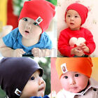 Colorful Unisex Baby Hat Cute Warm Cotton Cap For 0-3 Years Old Baby Children