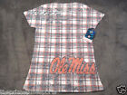 University of Mississippi NCAA Ole Miss Rebels Blue 84 Plaid Shirt - ALL SIZES
