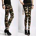 Hot Ladies Camouflage Army Print Stretch Jeggings Pants Leggings Trousers