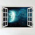 Full Colour Space Scene Earth Wall Sticker Art Decal mural transfer boys
