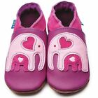Inch Blue Girls Baby Luxury Leather Soft Sole Baby Shoes - Ellie & Baby Grape