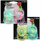 New Tommee Tippee Baby Dummies 2 Soft Rim Soothers Dummy  6 - 18 months