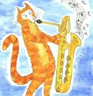 Blank greeting card Mungo Jerrycan jazz sax Louisa's Ginger Nuts Peter Brighouse