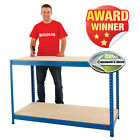 Heavy Duty Industrial Workbench Garage Workshop Table Racking Station 300kg UDL