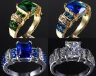 Size 8-12 Deluxe Vintage Jewelry 10KT Gold Filled Various Stone Band Ring Gift