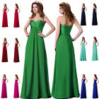 2014 New Long Sequins Gown Beaded Formal Bridesmaid Evening Cocktail Party Dress