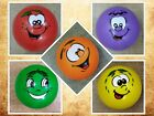 Fruit smiley faces colour Plastic Football Orange Yellow Green Purple Red