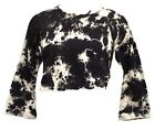 Dark Star Jordash Black & White Tie Dye Long Sleeved Blouse Top